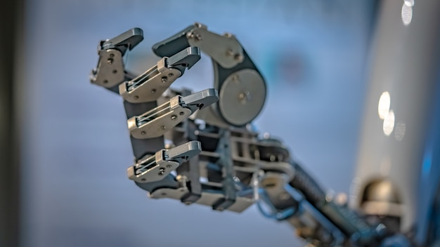 Mão mecânica robótica