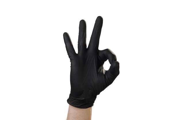 Mão mostra gesto, boa propaganda para a agência de segurança. tudo bem.