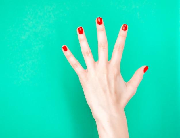 Mão, mostrando, sinal parada