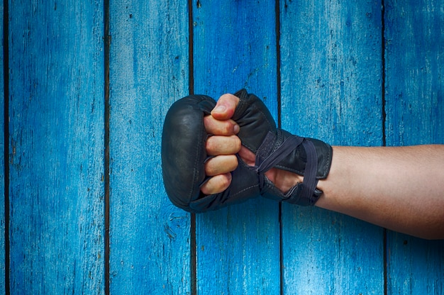 Mão na luva para o boxe