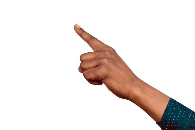 Mão negra apontando para cima
