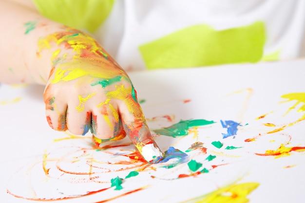 Mão pintura