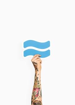 Mão, segurando, aproximação, símbolo