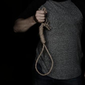 Mão, segurando, laço, roubar, com, experiência preta