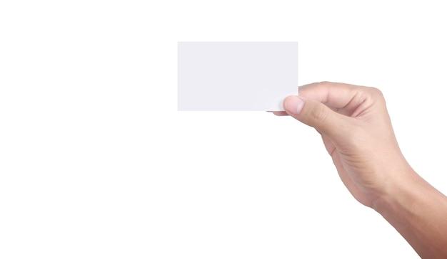 Mão segurando um cartão virtual com seu