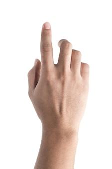 Mão tocando a tela