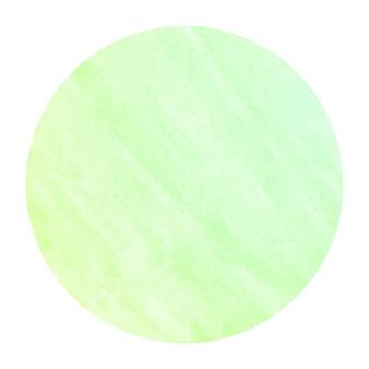 Mão verde desenhado em aquarela circular frame
