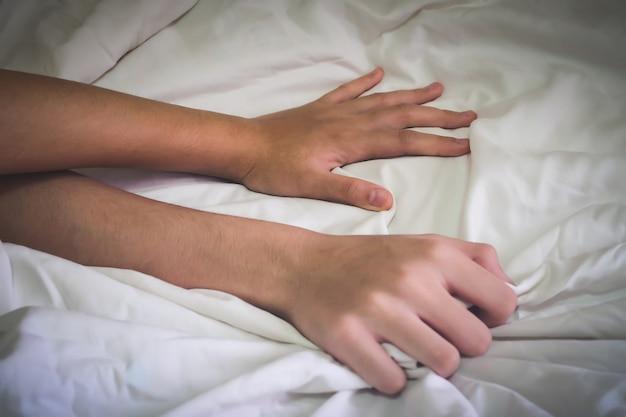 Mãos de casal