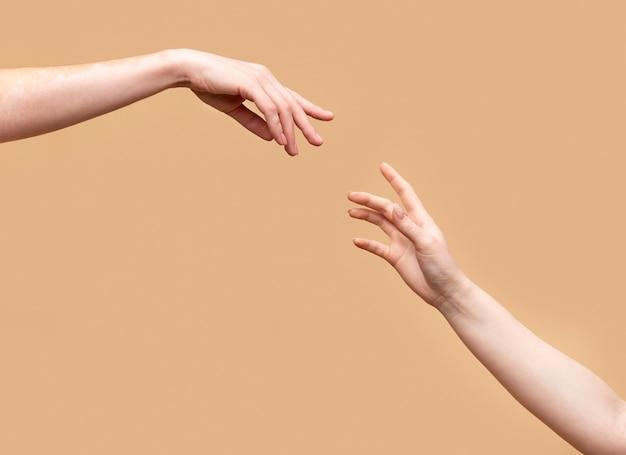 Mãos de mulheres lindas únicas