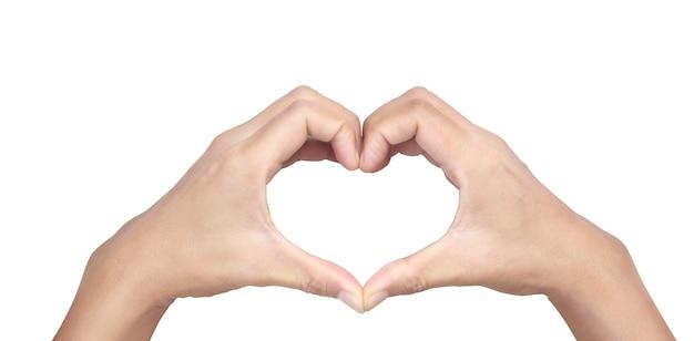 Mãos fazendo sinal coração
