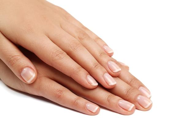 Mãos femininas. conceito de manicure