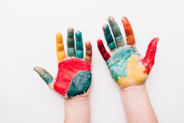 Mãos pintadas