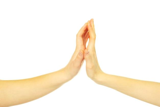 Mãos tocando