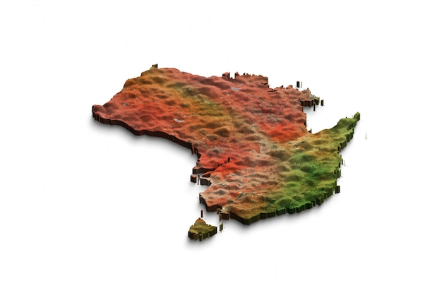 Mapa 3d da austrália