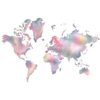 Mapa aquarela