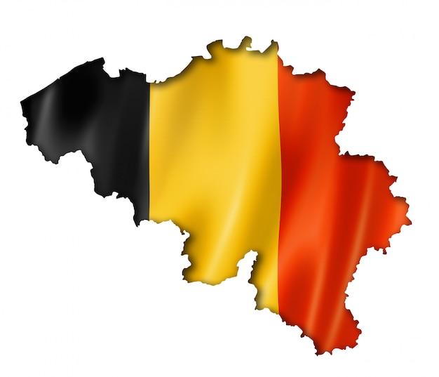 Mapa da bandeira belga