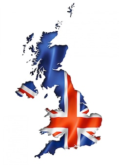 Mapa da bandeira britânica