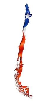 Mapa da bandeira chilena
