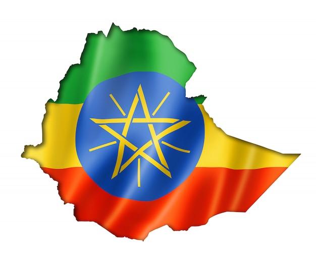 Mapa da bandeira da etiópia