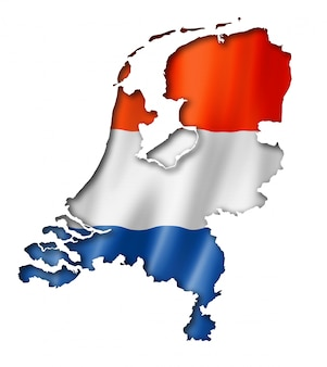 Mapa da bandeira da holanda