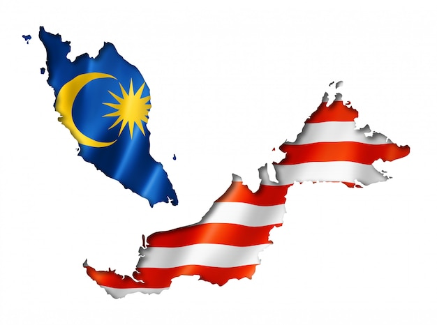 Mapa da bandeira da malásia