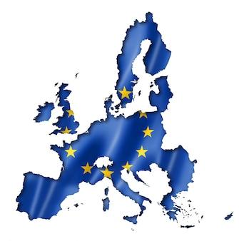 Mapa da bandeira da união europeia