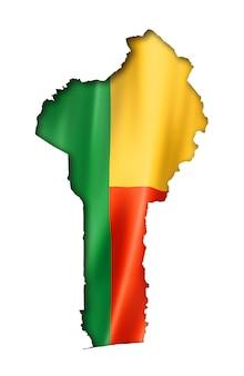 Mapa da bandeira de benin
