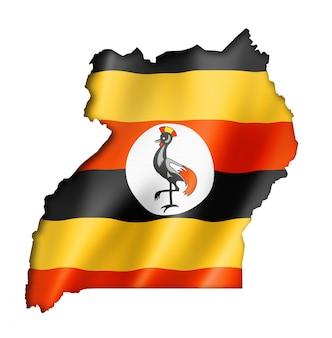 Mapa da bandeira de uganda