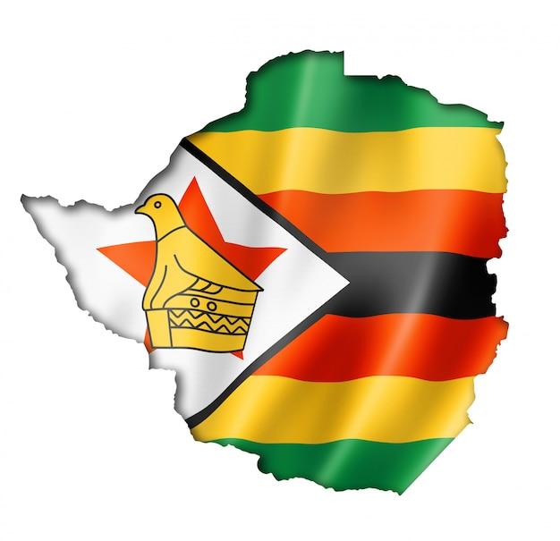 Mapa da bandeira do zimbábue