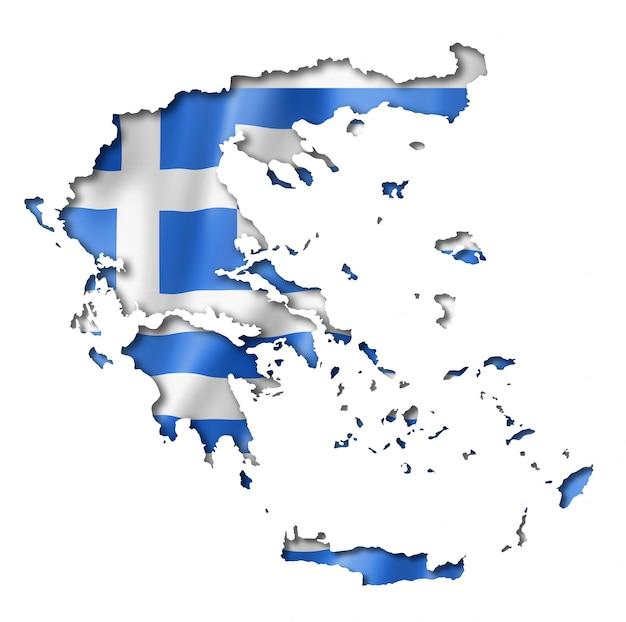 Mapa da bandeira grega