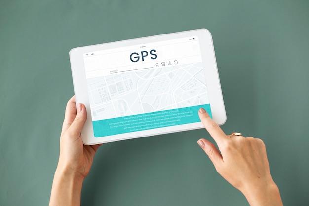 Mapa de direção gps, navegação, rota, viagem