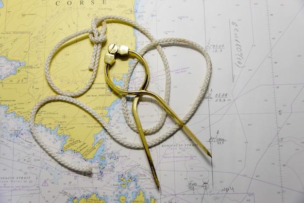 Mapa de navegação e divisor