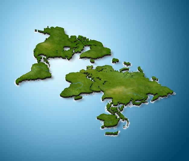 Mapa do mundo 3d