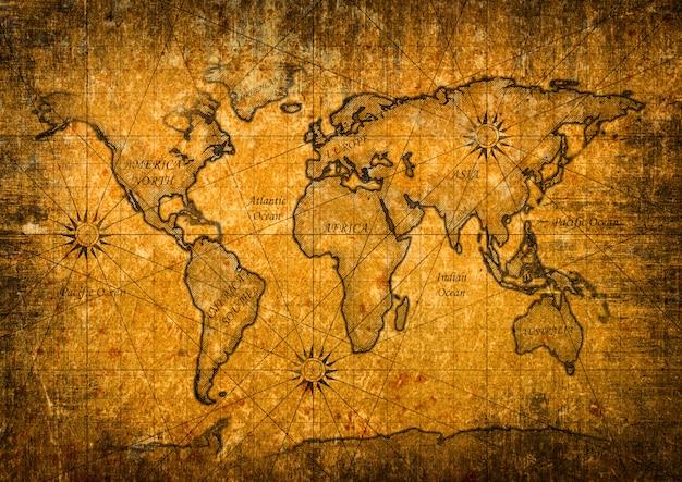 Mapa do mundo vintage
