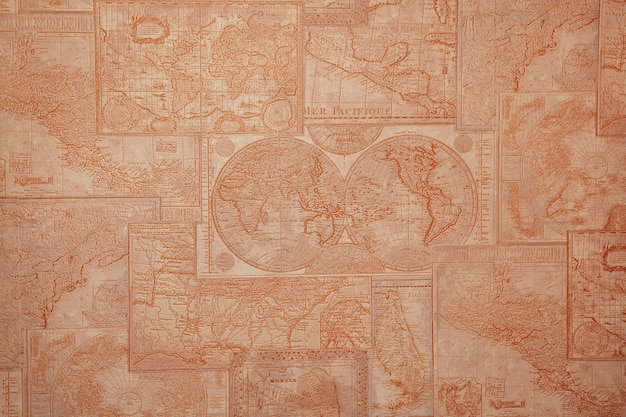 Mapa topográfico antigo
