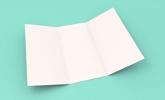 Maquete com três dobras azul