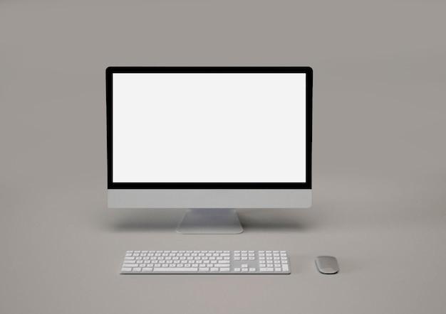 Maquete da área de trabalho do computador digital do monitor imac