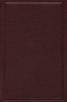 Maquete da capa do livro marrom escuro