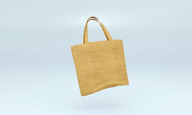 Maquete de bolsa de lona
