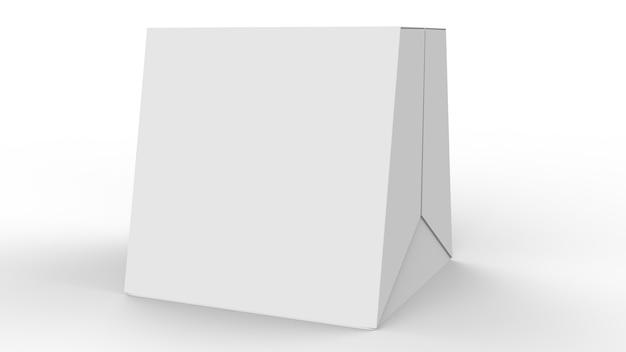 Maquete de caixa 3d, trapézio em forma de pacote