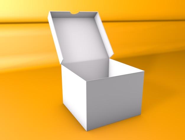 Maquete de caixa 3d