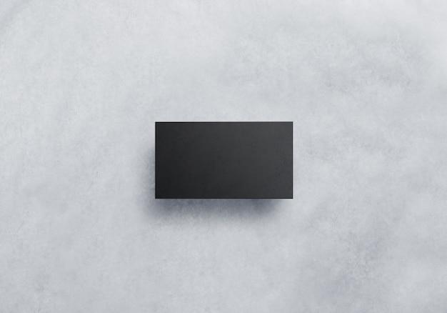 Maquete de cartão de visita preto em branco