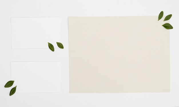 Maquete de cartão minimalista plana leiga