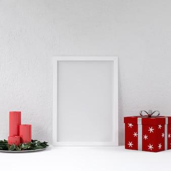Maquete de cartaz com decoração de natal