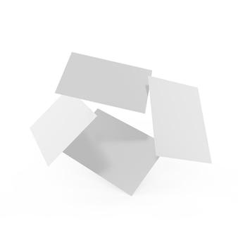 Maquete de cartões de visita em branco