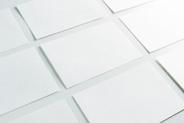 Maquete de cartões horizontais