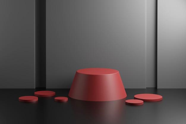 Maquete de cena abstrata com pódio trapézio geométrico