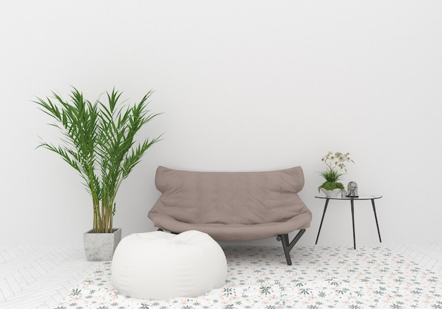 Maquete de design de interiores