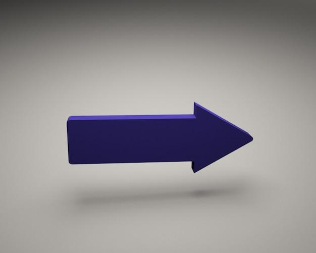 Maquete de direção de seta