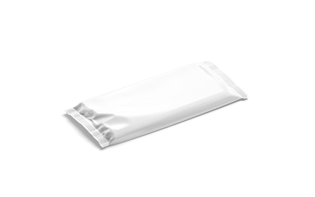 Maquete de embalagem de folil de barra de chocolate branco em branco maquete de bloco de chocolate vazio maquete de bolsa de doce de cacau transparente